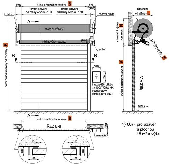 RGS-60-H рулонные ворота с